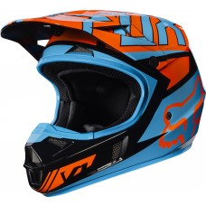 Fox Helm V1 Kinderhelm - Falcon orange/schwarz