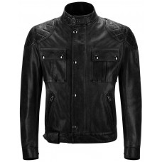 Belstaff Jacke Brooklands Leather - schwarz