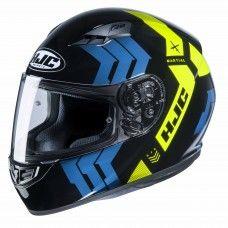 HJC CS-15 - Martial schwarz/blau/fluogelb