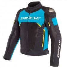 Dainese Dinamica Air D-Dry Jacke, schwarz/blau/fluogelb