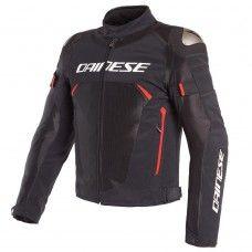 Dainese Dinamica Air D-Dry Jacke, schwarz/rot/weiss