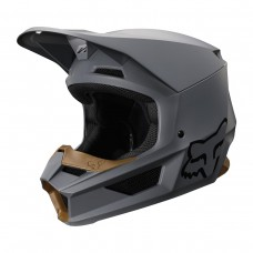 Fox V1 Moto-Cross Helm - Stone grau matt