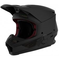 Fox V1 Moto-Cross Helm - schwarz matt