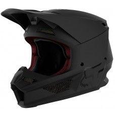 Fox V1 Moto-Cross Helm - schwarz matt