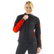 Dainese Air Frame Tex Lady - schwarz/rot